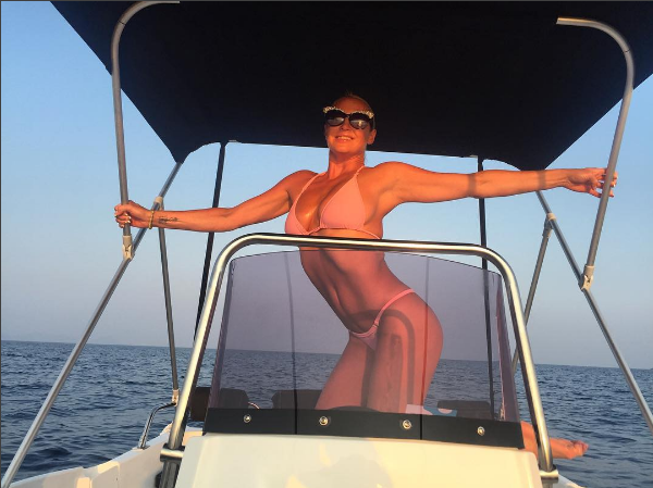 Анастасия Волочкова фото на яхте во время отдыха в Греции июль-август 2016