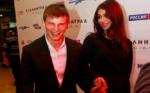На фото Андрей Аршавин с Алисой Казьминой