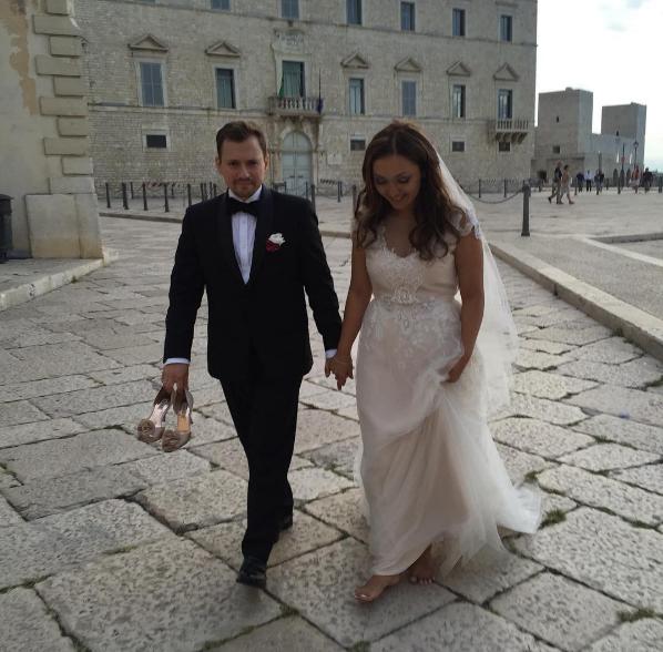 Фото Андрея Гайдуляна и Дианы Очиловой в день свадьбы в Италии, сентябрь 2016