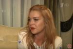 """Фото Линдси Лохан во время интервью Малахову для программы """"Пусть говорят"""" в сентябре 2016"""