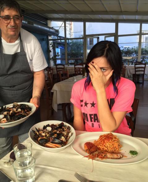 Настасья Самбурская в Италии, сентябрь 2016, фото из Инстаграма