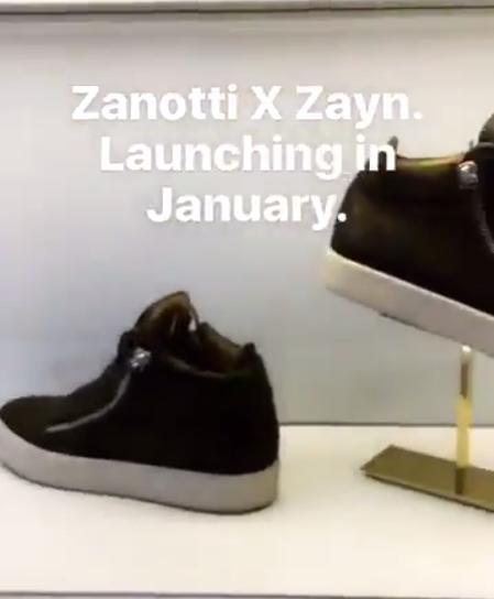 Обувь от Зейна Малика и Джузеппе Занотти фото из Снепчата