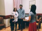 На фото Айза Долматова с сыновьями и Дмитрием Анохиным во время повторного бракосочетания в ноябре 2016