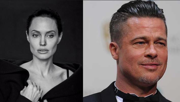На фото Анджелина Джоли и Брэд Питт