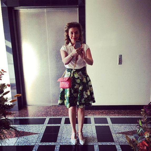 Божена Рынска любит стиль пин-ап и цветочные принты, фото из Инстаграма