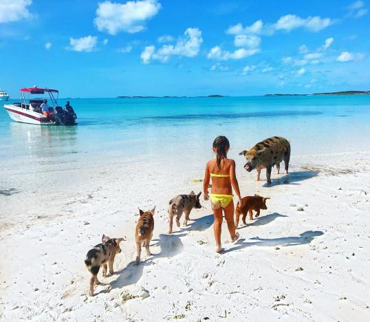 Фото дочери Оксаны Самойловой и Джигана во время отдыхана Багамах в 2016