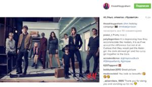 Пост и фото Эшли Грэм в Инстаграме об участии в праздничной рекламной компании H&M