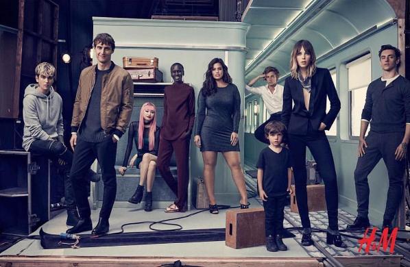 Модель Эшли Грэм в рекламе H&M, фото