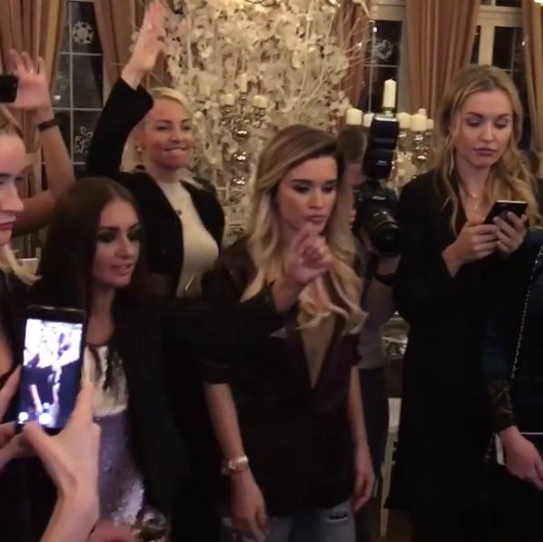 Ксения Бородина фото с гостями на дне рождения младшей дочери 22.12.2016