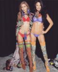 Джиджи Хадид и Адриана Лима в процессе съёмок шоу Виктория Сикрет,фото изИнстаграма Джиджи Хадид