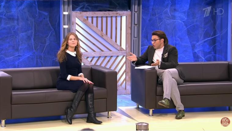 Жена Вадима Казаченко Ольга в программе «Пусть говорят», видео