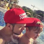 Антон Гусев с сыном в Дубае фото январь 2017