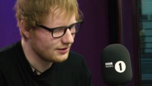 Эд Ширан (Ed Sheeran) фото 2017 в студии радио ВВС