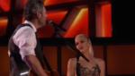 """Гвен Стефани и Блейк Шелтон на сцене во время выступления в американском шоу """"Голос"""""""