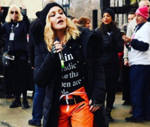 Мадонна фото 2017 во время акций протеста против Д. Трампа