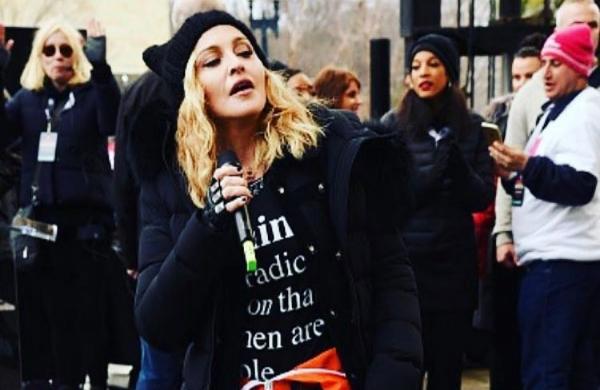 Мадонна решила оправдаться за грубости в адрес Трампа