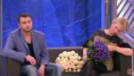 """На фото Ксения Стриж и её муж Андрей сусиков в студии """"Пусть говорят"""""""