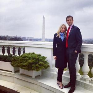 На фото из Инстаграма Тиффани Трамп с братом Эриком в Белом доме во время инаугурации Д. Трампа