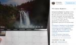 Пост из Инстаграма поклонников сериала Твин Пикс о дате премьеры 2017 года