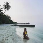 Анастасия Волочкова фото 2017 в время отдыха на Мальдивских островах