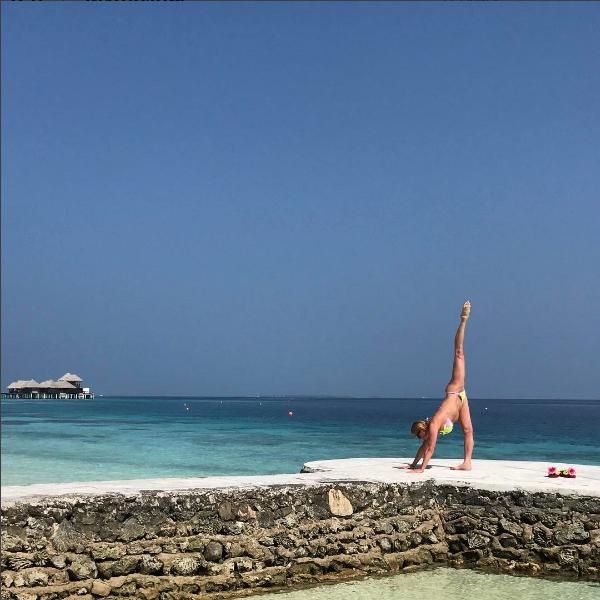 Анастасия Волочкова встретила 2017 год на Мальдивах, фото