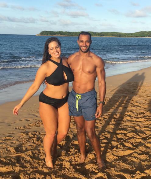 Полная модель Эшли Грэм и ей муж Джастин Эрвин, фото 2017 из Инстаграма
