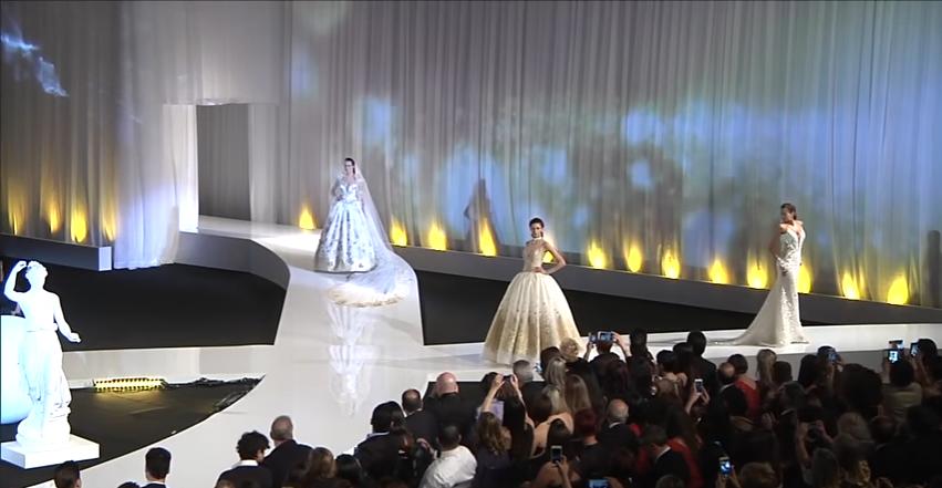Модный показ свадебных платьев от Nicole Fashion Group 2018, видео