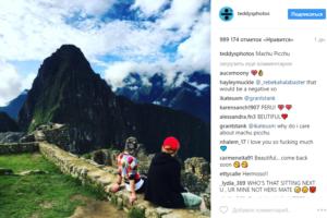 Фото Эда Ширана с подругой в Перу, май 2017 из Инстаграма