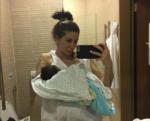 Лиза Кутузова: фото с новорожденным сыном, май 2017