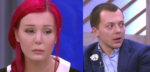 """На фото Анастасия Шпагина и хирург Тимур Нугаев в студии """"Пусть говорят"""""""