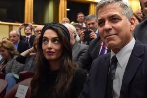 На фото Джордж Клуни и Амаль Аламуддин-Клуни