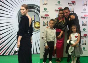 Ксения Собчак и Бородина с мужем и детьми на премии Муз-ТВ 2017, фото из Инстаграма