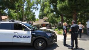 Полиция перед домом Честера беннингтона в Лос-Анджелесе, фото Radaronline.com