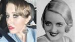 Фото Ксении Собчак с укладкой в стиле 30-х годов и фото голливудской актрисы Бетти Дейвис с аналогичной по стилю прической
