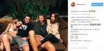 Фото из Инстаграма Айзы: Айза, Дмитрий Анохин, Алексей Долматов и его девушка Леся (справа налево)