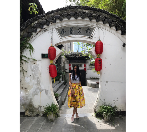 Алена Водонаева в Китае, фото из Инстаграма август 2017