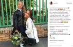 Юлия Барановская с дочерью Яной фото в День знаний 1 сентября 2017 Инстаграм @ygemini