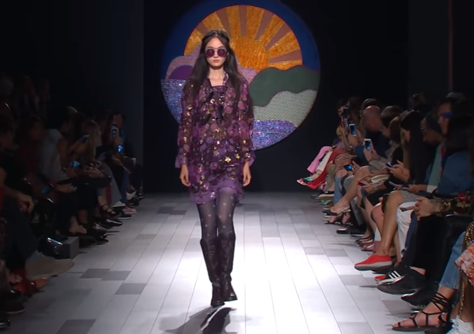 Коллекция Anna Sui на Неделе моды в Нью-Йорке, видео