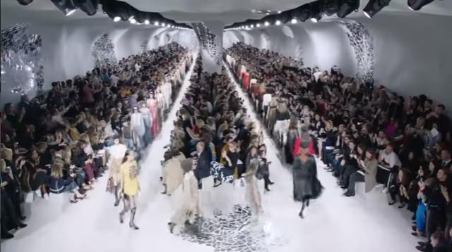 Неделя моды в Париже: коллекция Dior весна-лето 2018, видео