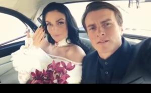 Алена Водонаева и Алексей Комов (Косинус) в день свадьбы, фото из Инстаграма @alenavodonaeva