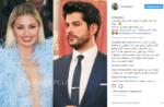 Скрин одного из турецких аккаунтов в Инстаграме с фото Виктории Бони и Бурака Озчивита и комментариями