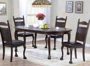 Обеденные столы в форме овала – особенности и преимущества